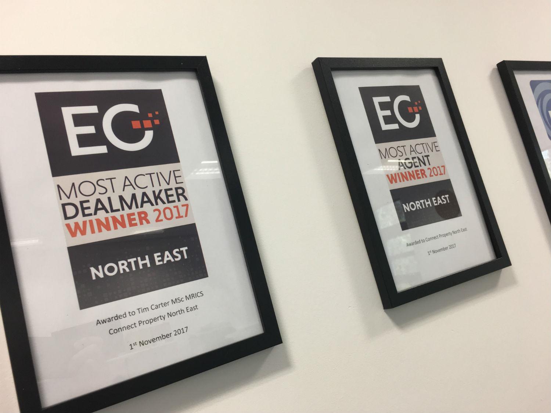 CPNE Scoop Estate Gazette Most Active Agents Award